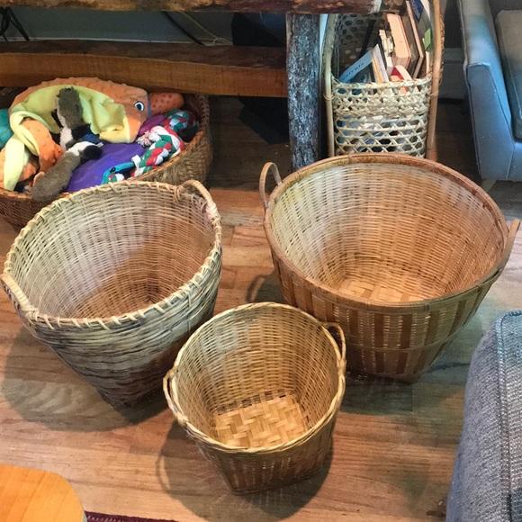 Vintage Other - 3 wicker basket planters